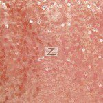 Rain Drop Sequins on Taffeta Fabric Brush Pink