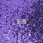 Rain Drop Sequins on Taffeta Fabric Purple