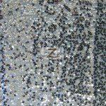 Rain Drop Sequins on Taffeta Fabric Silver
