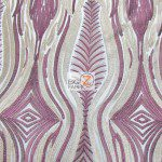 Mystic Eye Lace Fabric By The Yard Purple
