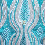 Mystic Eye Lace Fabric By The Yard Teal