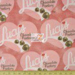 VIP CRANSTON FLEECE FABRIC BY THE YARD I LOVE LUCY CHOCOLATES AND HEARTS