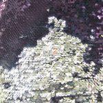 Mermaid Sequins Fabrics By The Yard Purple Silver