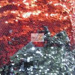 Mermaid Sequins Fabrics By The Yard Red Black