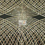 Unique Diamond Fabric By The Yard Black Gold