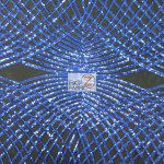 Unique Diamond Fabric By The Yard Black Royal Blue