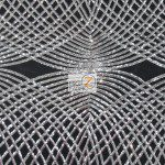 Unique Diamond Fabric By The Yard Black Silver