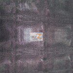 African Crocodile Vinyl Fabric By The Yard Black Silver