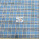 Tartan Plaid Flannel Fabric By The Yard Aqua Khaki