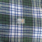 Tartan Plaid Flannel Fabric By The Yard Green White