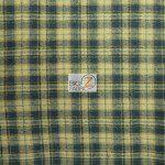 Tartan Plaid Flannel Fabric By The Yard Khaki Blue