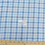 Tartan Plaid Flannel Fabric By The Yard Light Blue