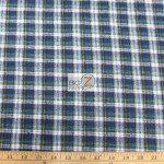 Tartan Plaid Flannel Fabric By The Yard Navy Green