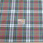 Tartan Plaid Flannel Fabric By The Yard Red Blue