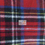 Tartan Plaid Flannel Fabric By The Yard Red Multi Color