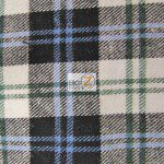 Tartan Plaid Flannel Fabric By The Yard White Black