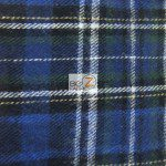 Tartan Plaid Flannel Fabric By The Yard White Navy