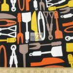Grill Essentials Utensils Michael Miller Cotton Fabric By The Yard