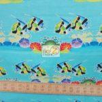 Tiki-Tiny Lounge Fish Michael Miller Cotton Fabric By Yard