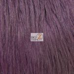 Solid Grizzly Fake Fur Fabric By Yard Eggplant