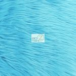 Solid Grizzly Fake Fur Fabric By Yard Turquoise