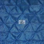 Royal Blue Button Style Taffeta Fabric By The Yard