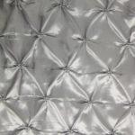 Silver Button Style Taffeta Fabric By The Yard