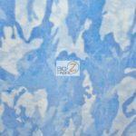 Blue Camo Print Fleece Fabric By The Yard