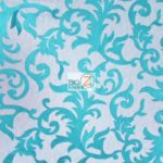 Cocktail Vogue Floral Lace Fabric Teal By The Yard