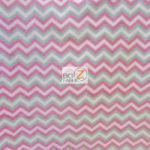 Chevron Fleece Fabric Fuchsia By The Yard