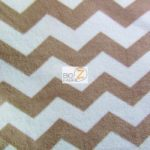 Chevron Fleece Fabric Mocha Brown By The Yard