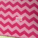 Chevron Fleece Fabric Pink Fuchsia By The Yard