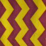 Chevron Fleece Fabric Yellow Burgundy By The Yard
