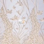 Metallic Ostrich Fern Floral Lace Fabric Blush By The Yard