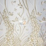 Metallic Ostrich Fern Floral Lace Fabric Gold By The Yard