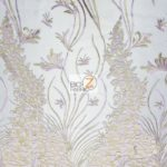 Metallic Ostrich Fern Floral Lace Fabric Lavender By The Yard
