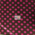 Brown/Pink Polka Dot Fleece Fabric By The Yard