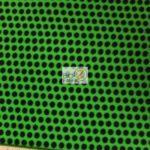 Neon/Black Polka Dot Fleece Fabric By The Yard
