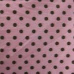 Pink/Brown Polka Dot Fleece Fabric By The Yard