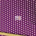 Purple/White Polka Dot Fleece Fabric By The Yard