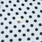 White/Black Polka Dot Fleece Fabric By The Yard